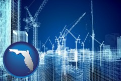 florida map icon and construction projects